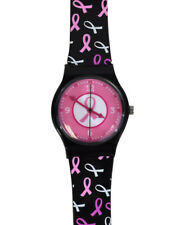 Nurse - Medical Pink Ribbon Cancer Awareness Ribbon Jelly Watch