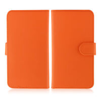 Etui  portefeuille universel en cuir orange pour  smartphone Apple iPhone 6 /6s