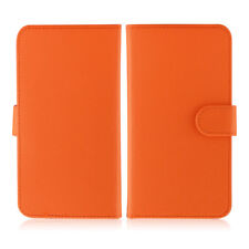 Etui  portefeuille universel en cuir orange pour  smartphone Apple iPhone 6 Plus