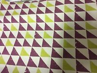 "CLARKE & CLARKE ""PRISM"" 100% COTTON BERRY AND LIME FABRIC 5 METRES"