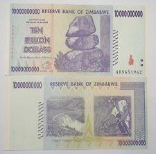 "ZIMBABWE ""UNC"" $10,000,000,000 TEN BILLION DOLLARS BANKNOTE ~ UK Post From 55p."