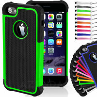 Hard Shockproof Case Cover for iPhone 4/4s 5/5s 6/6s FREE Screen Protector