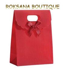 5 pochettes cadeau sacs boites sachets bijou nœud emballage rouge 12 x 6 x 16 cm