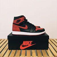 2016 Nike Air Jordan Retro 1 I HIGH OG BANNED BRED BLACK RED 555088-001