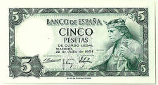 BILLETE DE 5 PESETAS DE 1954 (SC) ALFONSO X (SIN SERIE)
