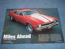"1970 Chevy Nova Grudge Drag Car Article ""Miles Ahead"""