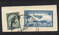 New Zealand 2 Stamps c1935 Used on Piece (176)