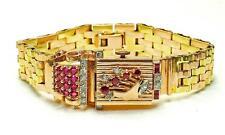 WOW! Vintage 14k Pink & Green Gold - Diamond & Ruby RETRO L Piccard wrist watch