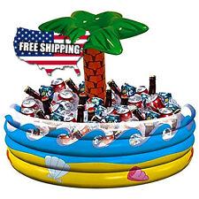 Amscan Palm Tree Inflatable Cooler Hawaiian Beach Party Garden Patio Vinyl NEW