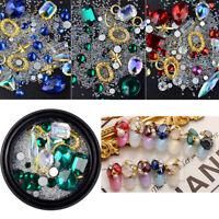 Mixed Nail Art Craft Decoration Irregular Glass Diamante Rhinestones Gems Beads