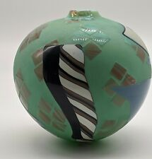 Signed George Thiewes Acid Cut Back Art / Studio Glass Vase 1983 No Reserve!