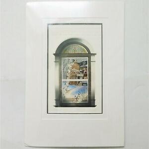 1990 Vintage Sonia Gilbert Signed Numbered 127/350 De L'autre Cote Birds Print