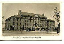 Station Hospital-Car-Governors Island-New York-RPPC-Real Photo Vintage Postcard