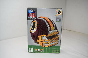 FOCO Forever Collectibles Washington Redskins 3D BRXLZ Helmet