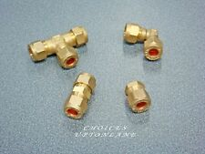 BRASS COMPRESSION PLUMBING FITTING FROM 6MM-28MM STRAIGHT, ELBOW, TEE, STOP END