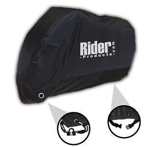 Rider Products Waterproof Motorcycle Rain Cover Motorbike Bike Medium Black