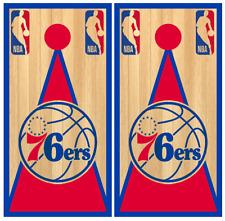 Philadelphia 76ers Style 04 Cornhole Board Wraps Skins Vinyl Decals