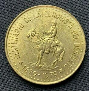 1979 Argentina 50 Pesos Coin BU UNC   World Coin Aluminum bronze    #K1501
