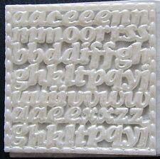 Kerzenkunst Wachsplatte Wachsornamente Schrift Buchstaben perlmut Jittenmeier