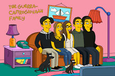 7 characters Custom Simpsons portrait Mothers day gift Personalized anniversary