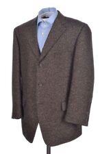 SAMUELSOHN Brown Woven Tweed SILK ALPACA WOOL Blazer Sport Coat Jacket - 44 R