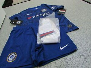 Genuine Nike Chelsea Junior Unisex Kid's Home Full Kit 2019/2020, Size: 7-8yrs