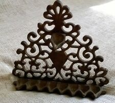 Antique Moroccan north African handmade bronze wall Menorah Arab candle holder