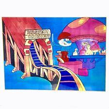 Vintage Smurfs Original Animation Cel Actual Production Certificate Authenticity