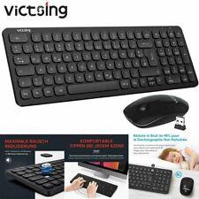 VicTsing Funk Tastatur Maus Set Wireless Kabellos für PC Laptop Deutsches Layout