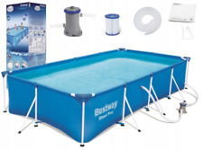 8in1 BestWay SWIMMING POOL 400 x 211 Rectangular Garden Above Ground Pool + PUMP