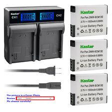 Kastar Battery LCD Rapid Charger for DMW-BCM13 BCM13E & Panasonic Lumix DMC-ZS50