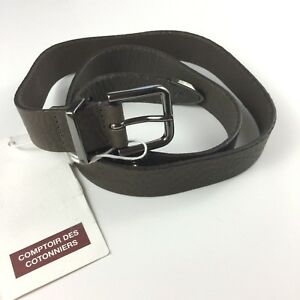 Comptoir Des Cotonniers Brown Leather Belt Cuir Vachette, T1