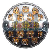 12V / 24V 95MM CLEAR LED FRONT POSITION / SIDE LIGHT AND INDICATOR LAMP LIGHT