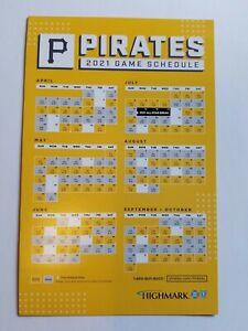 2021 Pittsburgh Pirates magnet schedule SGA