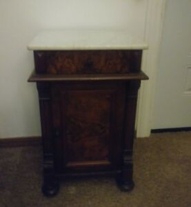Beautiful Antique Victorian Marble Top Washstand /Commode/ Plant Stand