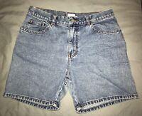 Vintage Calvin Klein High Waisted Denim Shorts Light Wash Size 7