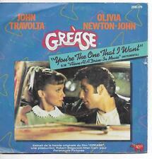 45 TOURS - GREASE : JOHN TRAVOLTA / OLIVIA NEWTON JOHN