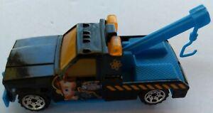 Matchbox Jimmy Neutron GMC Wrecker Black + Blue Mattel 1987 Model 1/72 China