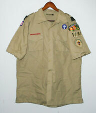 Boy Scouts Of America Poplin Uniform Shirt Bsa Scout #1767 Adult Mens : Lg