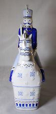 Porzellan Reiter auf Pferd von Hollohaza