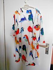 Longbluse/Kleid mehrfarbig mit Bilddruck Gr. XXL
