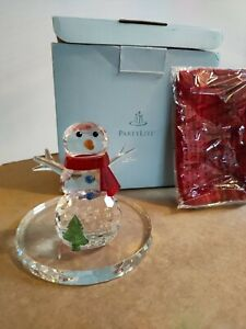 Partylite - Snowman Tealight Holder - Sparkle Lite Crystal - P9203 - New & Boxed