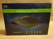 Cisco Router E1200 Linksys Wireless-N 2.4Ghz 4-Port 300Mbps 802.11N Wireless Te…