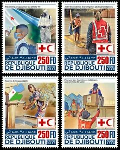 Djibouti Medical Stamps 2020 MNH Red Cross Corona Health 4v Set