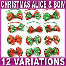 LARGE CHRISTMAS BOW ALICE BAND BEAK CLIP hair Girls Ladies XMAS santa aliceband