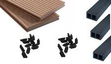 15 m² WPC MASSIV Komplettbausatz Terrassendielen Braun 1.WAHL Dielen Holz Set