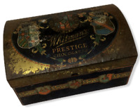 Whitmans Prestige Chocolate Tin Chest Decorative Rounded Lid Vintage Advertising