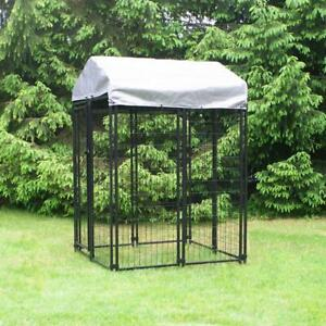 Welded Wire Dog Fence Kennel Kit 4 ft. x 4 ft. x 6 ft