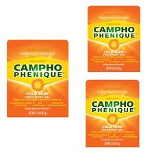 Bundle of 3 Campho-Phenique 0.23 oz. Maximum Strength Cold Sore Treatment Gels