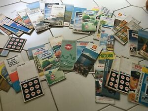 Vintage Road Maps Lot 1960s Gas Station Maps, 50 Maps, Shell Gulf Pure Canada